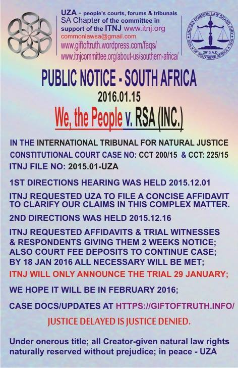 2016-01-15 Public Notice - Change of Date